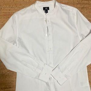 No collar slim fit shirt